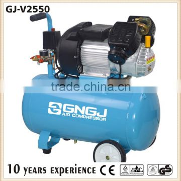 V Style Double Cylinder Head Piston Portable Electric Air Compressor For Painting