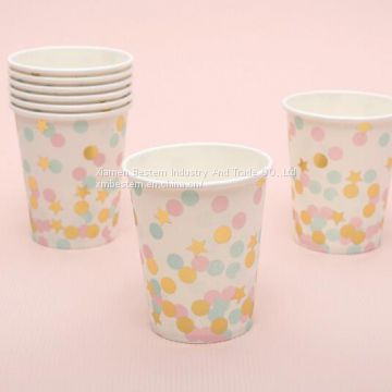 Cheap Disposable Polka Dot Party Paper Cups for Coffee Tea Milk Cola