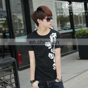 Peijiaxin Latest Design Casul Style Men Custom Cotton T-shirt Printing