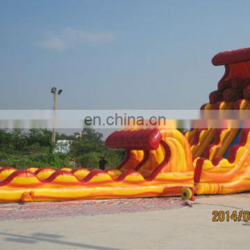 High quality inflatable flame water slide WS061