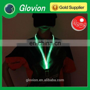 New Design led flashing cheap custom lanyards for party