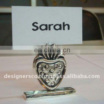 Silver Strawberry Wedding Favor Place Card Holder