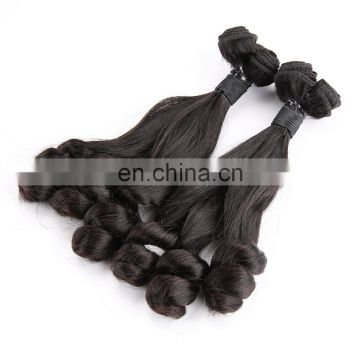 New style Double Drawn cuticle aligned hair brazilian funmi spring curl hair