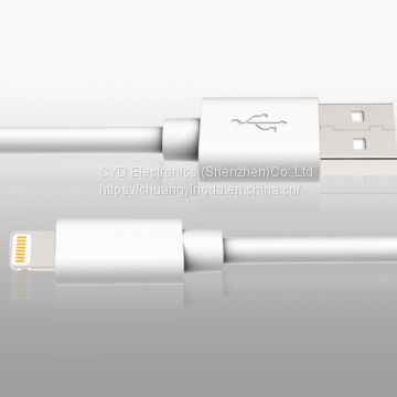 PVC lightning cable for iPhone 7 and iPhone 7 Plus with C48 connector and MFi license