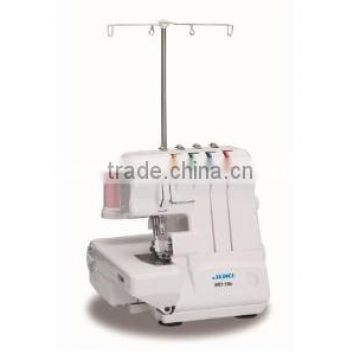 Juki MO-50e is a 2-Needle,3/4 Thread Overlock with Automatic Rolled Hemming and Differential Feed machine.