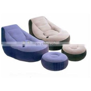 Inflatable Lounge Sofa Chair with Foot Stool