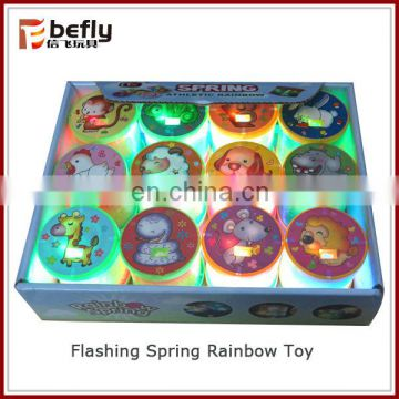 Big size DIA 17.5CM Kids plastic rainbow spring toy