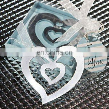 Triple Heart Chrome Bookmark Favors