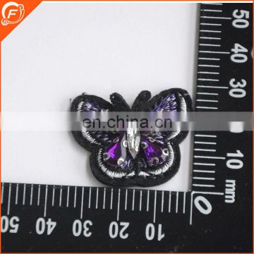 3D glass and acrylic stone beads made embroidery flower patch
