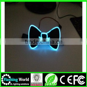 High quality attractive shinging handmade fashion led bow tie