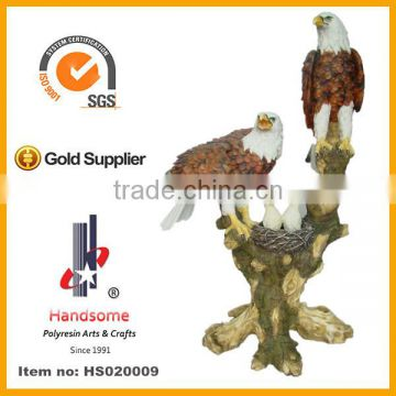 24 Inch Resin Garden Animal Statue Eagle Outdoor Large Eagle Statues