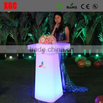 outdoor picnic camping square plastic led lightng table
