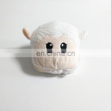 Sheep head shape plush toy keychain with shopping bag