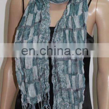JDZ-119_1112# Chiffon scarf leopard and check pattern