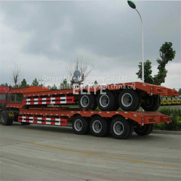 Good price 3 axle wide load low bed trailer for oversize machinery haulage low loader trailer