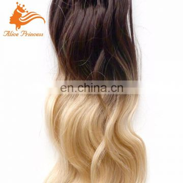 Unprocessed Virgin Human extension micro loop 100% human ombre hair extension