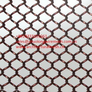 Wire mesh in stainless steel for interior applications on cutain