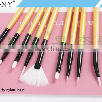 ANY Wood Handle Nail Art Beauty Care 9PCS High Quality Nail Brush Set