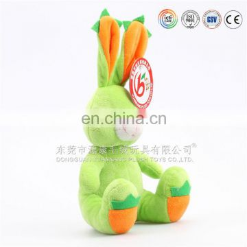Toys Manufacture Make Super soft green plush bunny rabbit toy wholesale