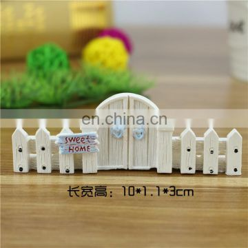 Mini resin fence for fairy DIY decoration