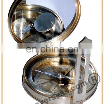 BRASS CLINOMETER COMPASS