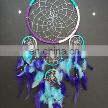 Large dream catcher purple pink turquoise dreamcatcher