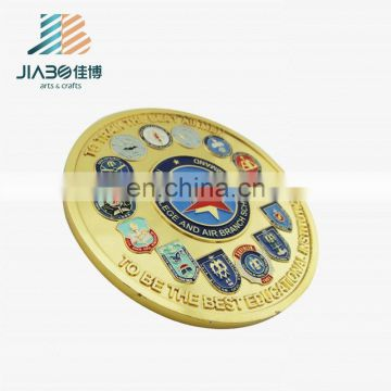 Stamping custom zinc alloy metal souvenir fake gold coins