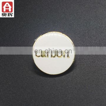 Top sale antique gold gold plating blank button badge wholesale