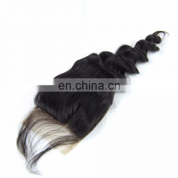 OVER NIGHT DELIVERY 100% Peruvian human virgin 9A grade hair lace closure in loose wave RAW UNPROCESSED HAIR