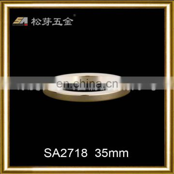 SA2718 Gold color round metal circle custom bag accessory o ring buckle for bags strap