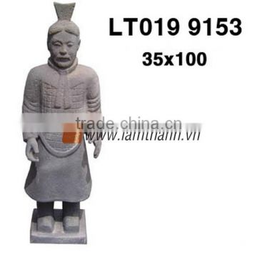 Ancient Ceramic Pottery Warrior Handmade Statue