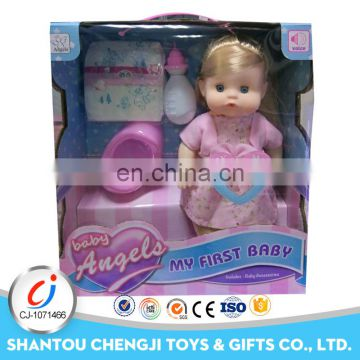 Cute 14 inch vinyl drink pee reborn free soft silicone baby dolls with IC
