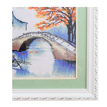 Custom Autumn Scenery Cross Stitch for home decoration