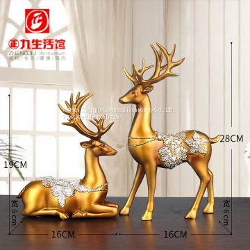 European-style creative products lovers elk bedroom small decorative pieces resin simulation animal foreign trade household decoration crafts home decor