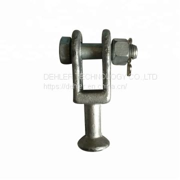 High Quality Hot-dip Galvanized Steel Ball Clevis Type Connection Fitting for Overhead Power Line Cable