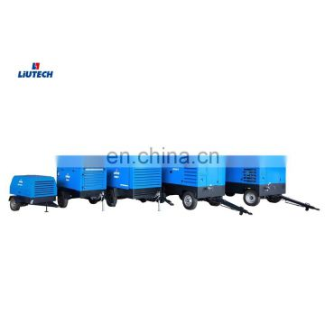 Good price hammer rock drill air compressor 300 cfm for mining