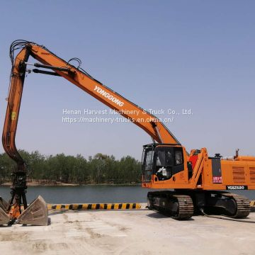 52 Ton Crawler Material Handling Machine for Ports YGSZ520-8 Loader Cranes with 3m3 Grab