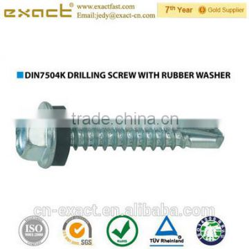 Self drilling screw with hex washer head DIN7504K Chinese manufacturer