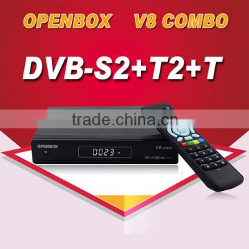 Amazing DVB-S2+T2 1080P full HD satellite receiver v8 combo