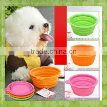 Unbreakable silicone ant proof pet food bowl
