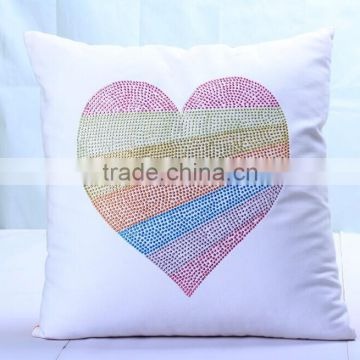 Personalized Custom Mother Of The Bride Rhinestone Transfer Throw Pillow Cover And Cushion Cover