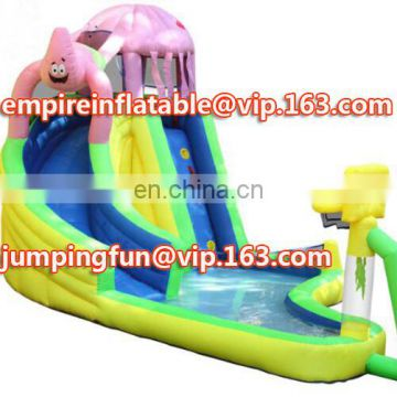 Funny spongebob inflatable medium sized slide for kids ID-SLM058