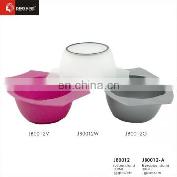 beauty saloon plastic rubber stand hair dye bowl