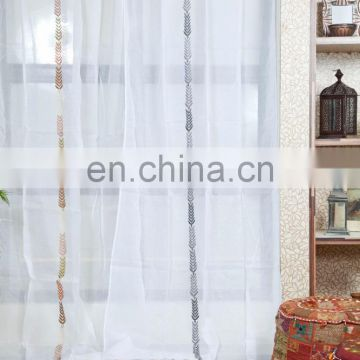 Popular colorful luxury indian window curtain