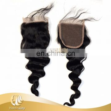 Hot Beauty 4 inch by 4 inch Swiss lace closure perfect match hair bundles