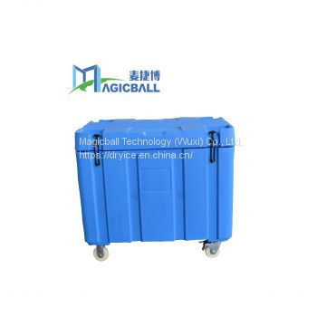 dry ice container for cold chain