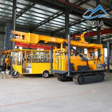 Crawler Mud Air Drilling Rig Dual Usage Mud Rotary Drilling Rig And Air Percussive Drilling Rig For Water Well & Exploration