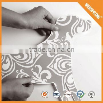 New product wholesale removable black lamp wall sticker
