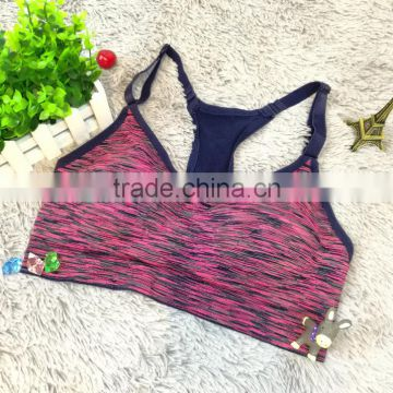 Satin Styling Sexy Women Fitness Gym Running Sports Bra Top