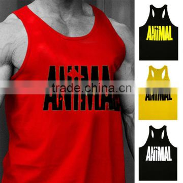Gym Vest Mens Sleeveless Shirt Bodybuilding Stringers Tank Top Fitness Singlets Sport Undershirt Sport Clothes Cotton Tops
